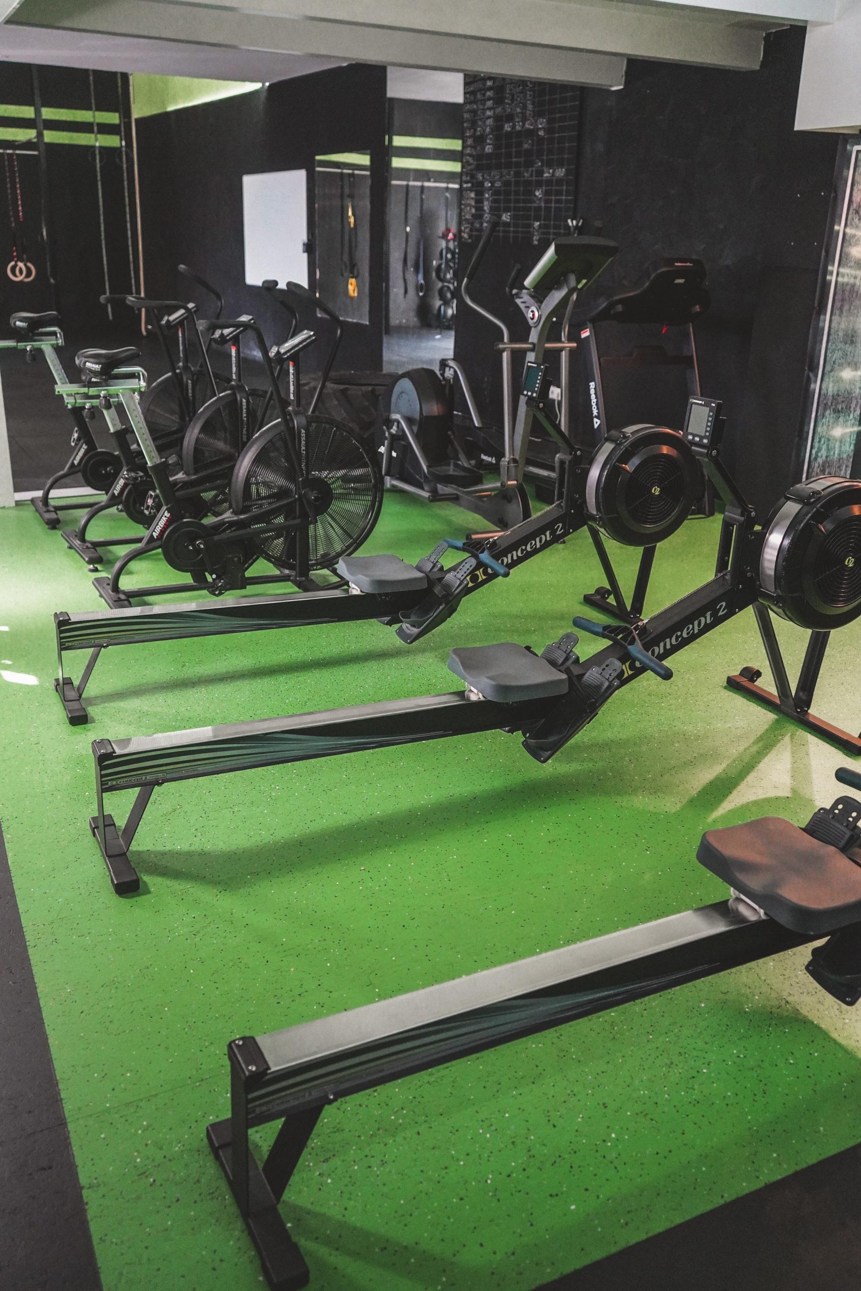 Crosspandables Cardio Area, Turnhallen Bodenbeschichtung